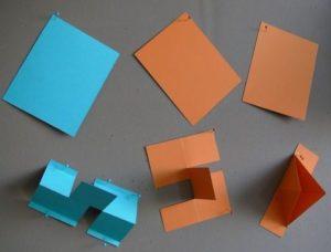 3 Rechtecke und darunter jeweils ein Objekt
